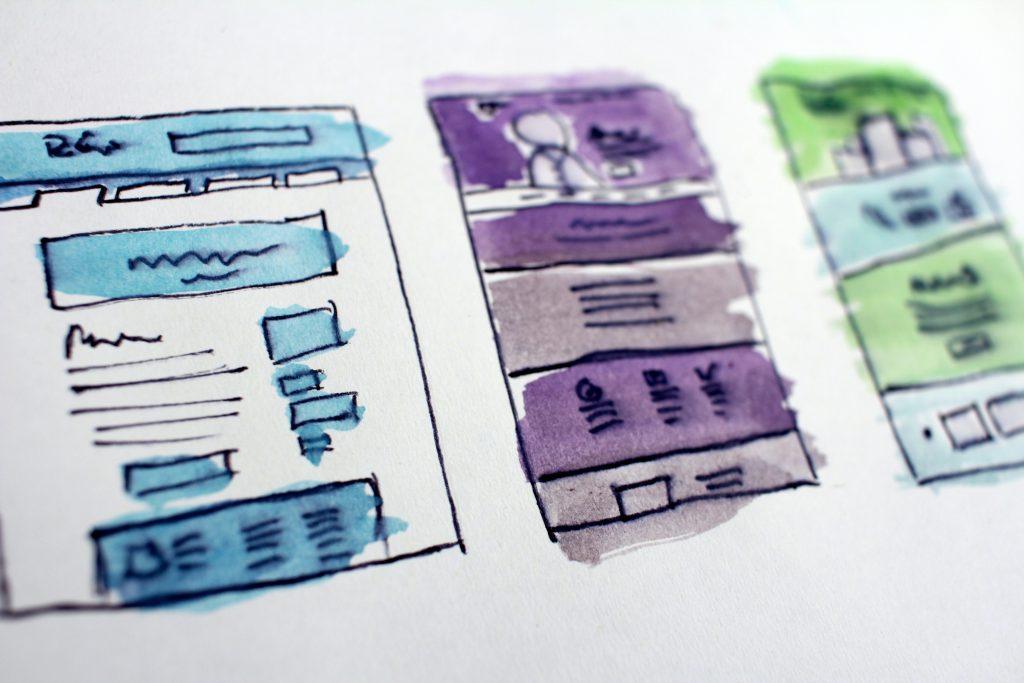 Illustration de webdesign pour illustrer l'article de blog au sujet de la page d'atterrissage